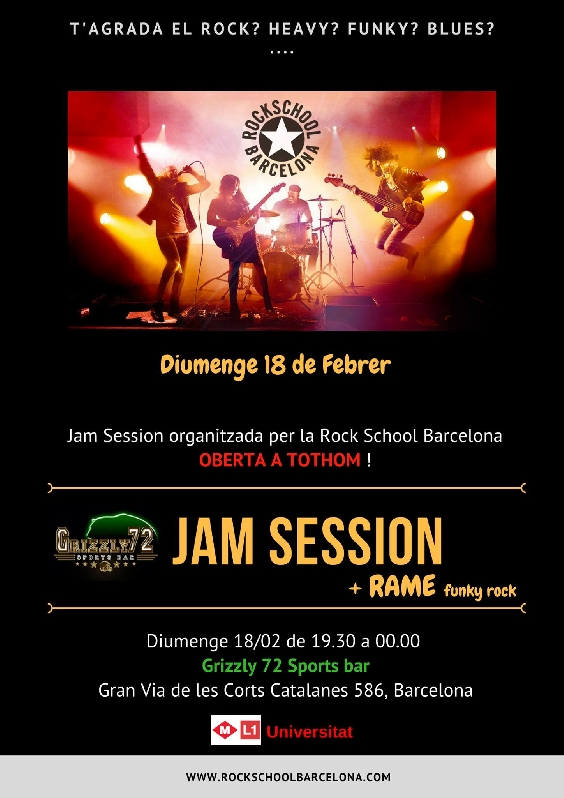 Rock School Barcelona presenta su primera Jam Session